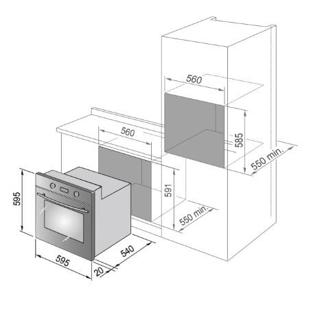 De Longhi Estetica a tutta facciata con vetro oscurato ed inserti in acciaio Inox - Bmx 8