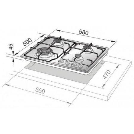 Delonghi Piano cottura a gas - If 46 Asdv Sp N