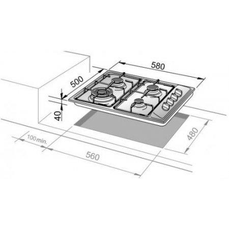Delonghi Piano cottura a gas - Fli 46 Asv