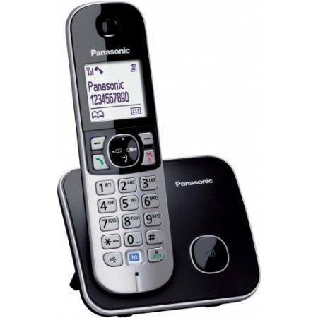 """Panasonic 4.572 cm (1.8 """") LCD, Backlit, ID chiamante, GAP, Ni-MH, AAA x2, Bianco/Nero - Kx-tg6811"""