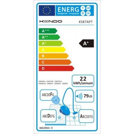 Kendo Scopa elettrica 130 watt - Ks87apt Bianco-grigio