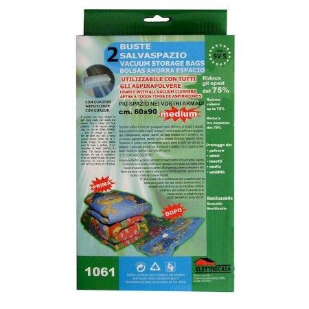 Elettrocasa Accessori preparazione cibi - 2 buste salvaspazio, 60x90 - Sv5