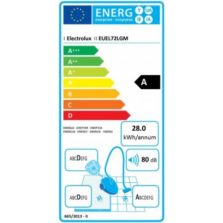 Electrolux Scopa elettrica 550 w - rex - Euel72lgm Grigio