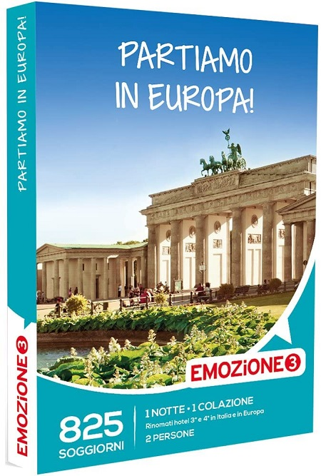 Emozione 3 Una notte con colazione, 825 diversi soggiorni in Italia e Europa in rinomati Hotel 4 e 5 stelle - E3 Partiamo In Euopa!h.19.12