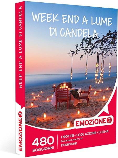 Emozione 3 Scegli uno tra 480 soggiorni romantici in hotel 3 o 4 stelle in tutta Italia: 1 notte con prima colazione e 1 cena per 2 persone - E3 Week-end A Lume Di Candela H.19.