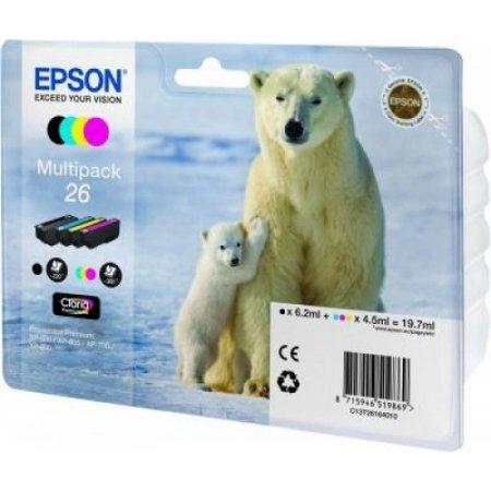 Epson 4 per confezione cartuccia inkjet - C13t26164020