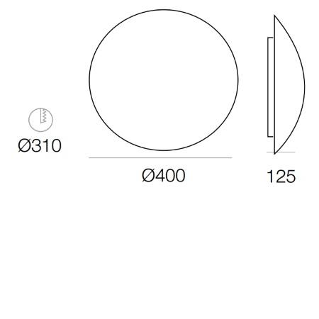 Targetti Lampada da soffitto o da parete - Osiride 2xE27 - 323424IP