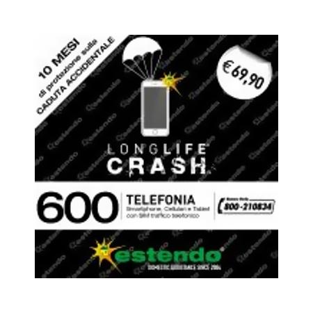 Estensione Assistenza Servizio di riparazione utilizzabile in caso di Caduta accidentale - +10 Mesi CRASH Smartphone da 400€ a 600€