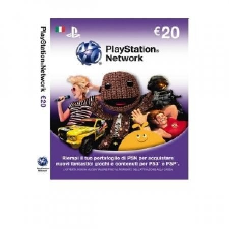 EURONET Playstation Network Card da 20 Euro - CARD SONY PLAYSTATION 20 EURO