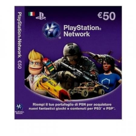 EURONET Playstation Network Card da 50 Euro - CARD SONY PLAYSTATION 50 EURO