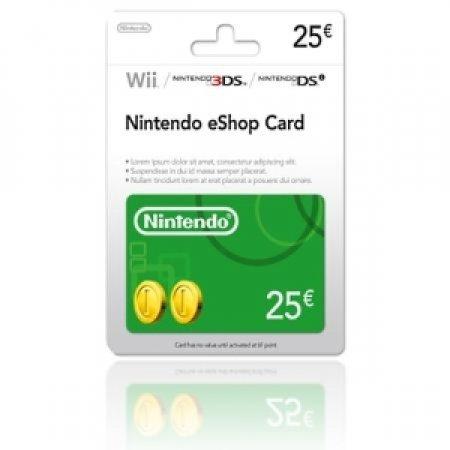 EURONET - NINTENDO ESHOP CARD DA 25 EURO