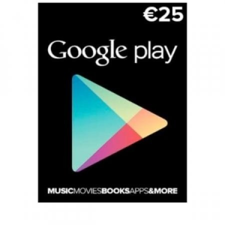 EURONET - GOOGLE PLAY STORE CARD 25 EURO