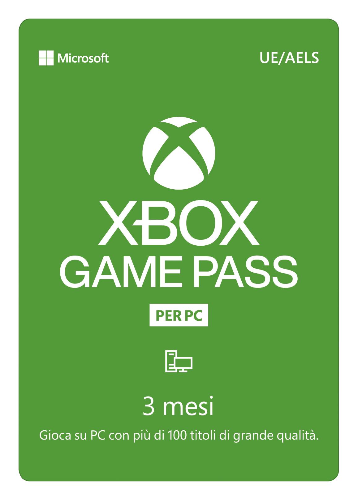 Euronet  - Gamepass Per Pc 3 Mesi 29,99