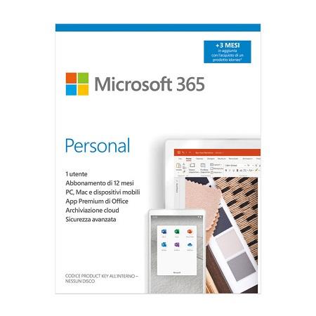 Euronet - MICROSOFT 365 Personal 15 mesi (Prodotto vendibile con Computer, Tablet e Smartphone)