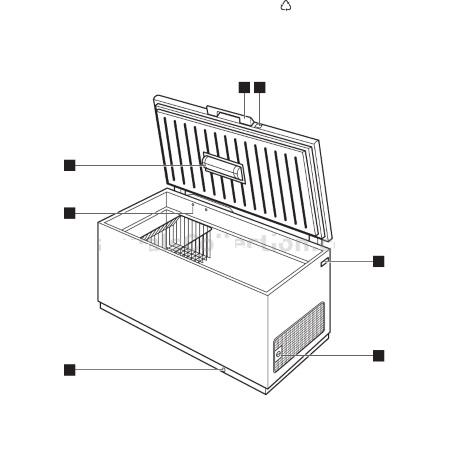 Electrolux Congelatore orizzontale - Ec1501aow