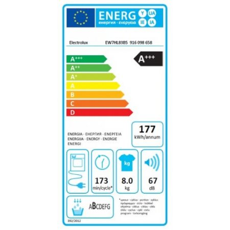 Electrolux Asciugatrice a pompa di calore - rex - Ew7hl83b5
