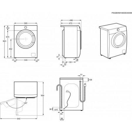 Electrolux Lavatrice carica frontale 7 kg. - rex - Ew6s472w