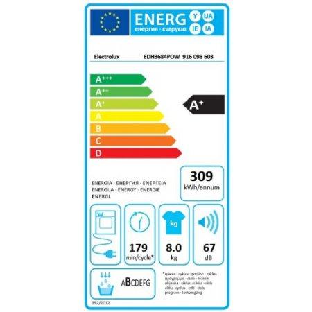 Electrolux Asciugatrice a pompa di calore - rex - Edh3684pow