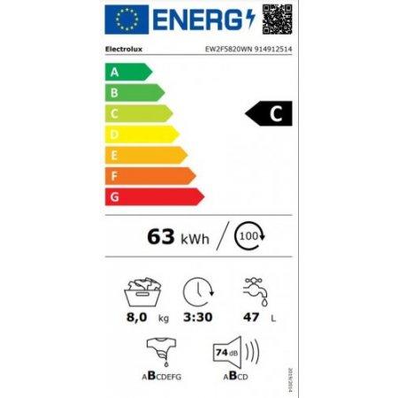Electrolux Lavatrice carica frontale 8 kg. - rex - Ew2f5820wn