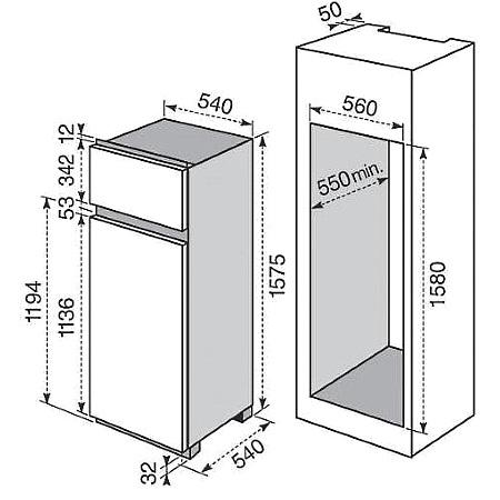 Electrolux Frigorifero doppia porta da incasso - Rjn2700aow