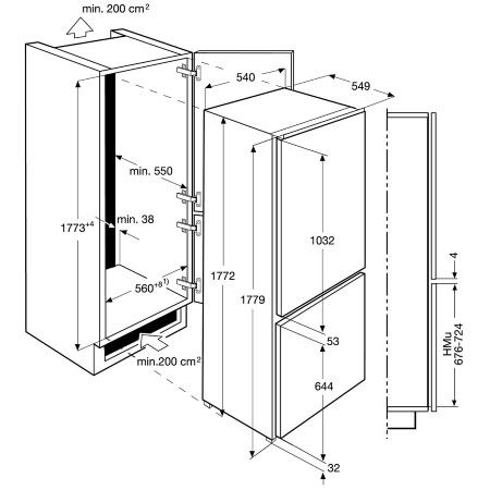 Electrolux Frigorifero Combinato ad incasso - Enn2853cow