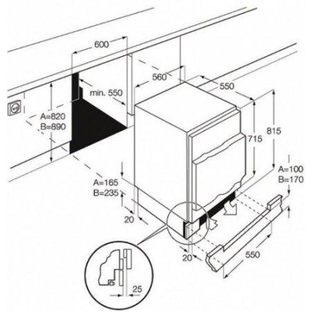 Electrolux Frigo Monoporta incasso sottopiano - rex - Ern1200fow