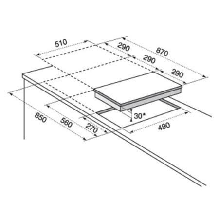 Electrolux Incasso Piano cottura della linea Quadro - Ehs3920hox