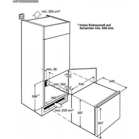 Electrolux Congelatore incasso - rex - Eun0600aow