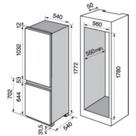 Electrolux Frigo combinato 2p incasso - rex - Enn2802aow