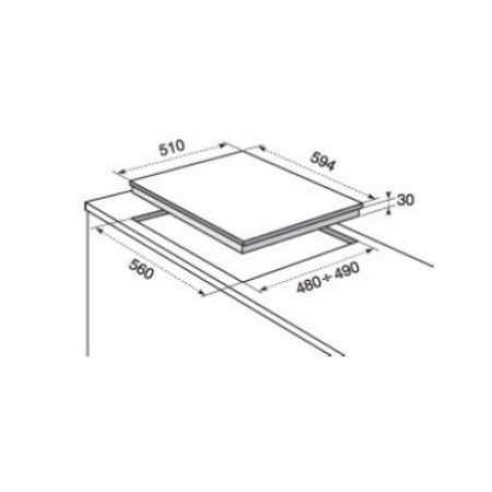 Electrolux Incasso Piano cottura CrossCook della linea Soft - Rgg6243low