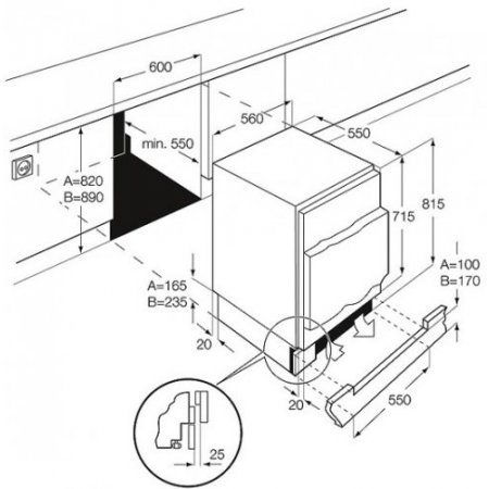 Electrolux Congelatore incasso - rex - Eun1100fow