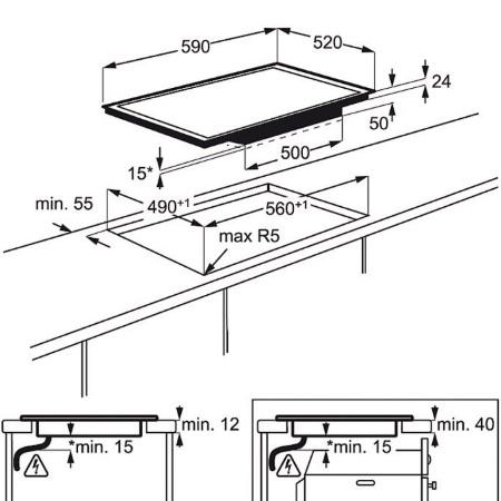 Electrolux Piano cottura in Vetroceramica a induzione - Ehx6455f2k