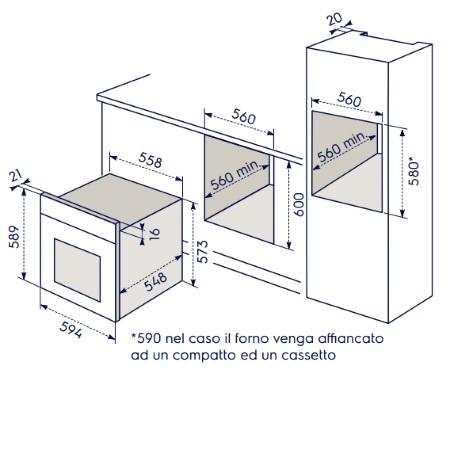 Electrolux Forno elettrico da incasso - Rob3200aon