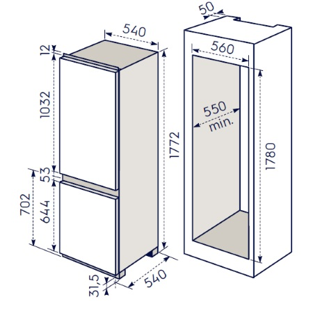 Electrolux Frigorifero Combinato da incasso - Enn2910eow