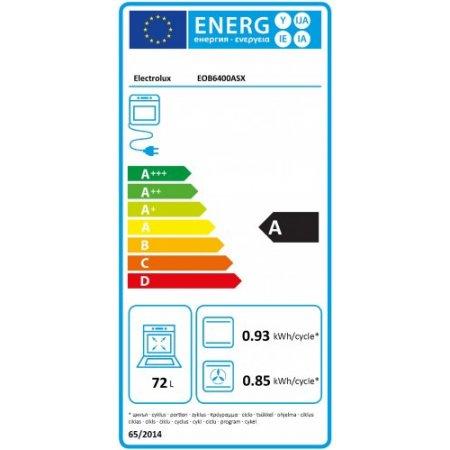 Electrolux Forno elettrico 2780 w - rex - Eob6400asx