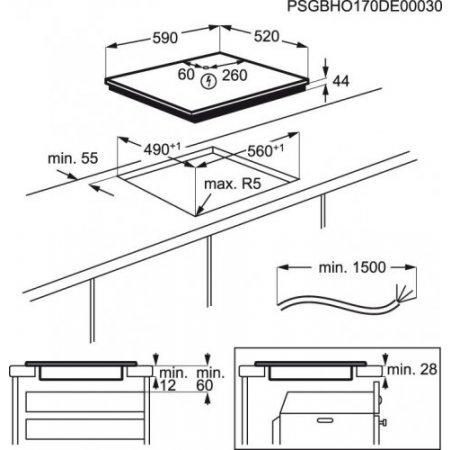 Electrolux Piano cottura ad induzione - rex - Lit60443c