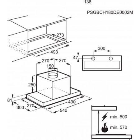 Electrolux Cappa sottopensile - rex - Lfg716x