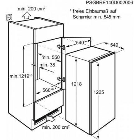 Electrolux Frigo 1p incasso - rex - Lrb3af12s