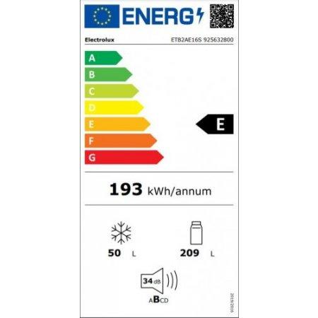Electrolux Frigo 2p incasso - rex - Etb2ae16s