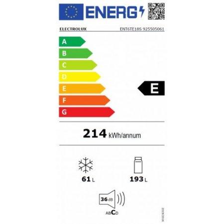 Electrolux Frigo combinato 2p incasso - rex - Ent6te18s