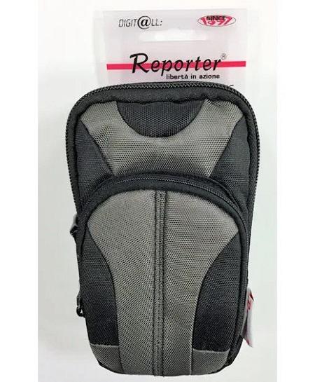 Reporter Custodia per fotocamera compatta di media grandezza con tasca e tracolla. - 00093