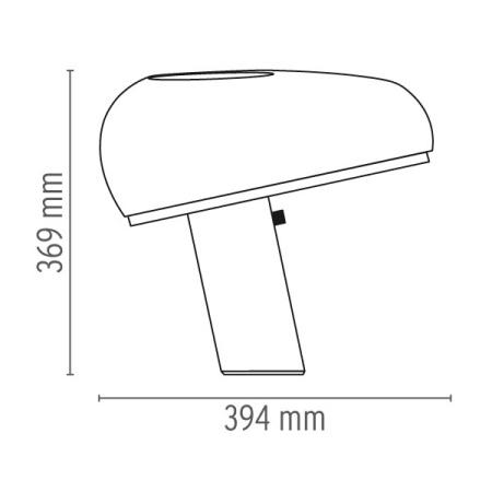 Flos Lampada da tavolo - SNOOPY TA 150W E27 NERO LUCIDO F6380030