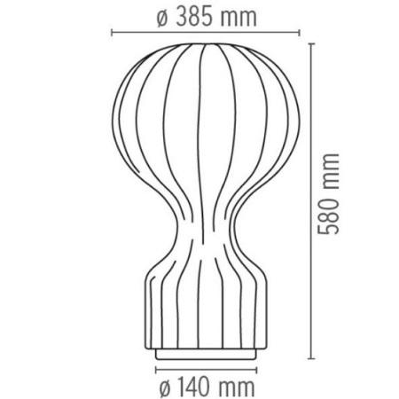 Flos Lampada da tavolo - GATTO TAVOLO E27 - F2601009