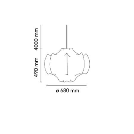 Flos Lampada a sospensione - VISCONTEA E27 - F8001009