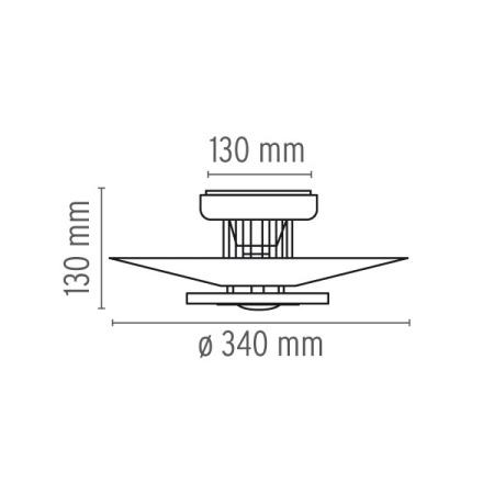Flos Lampada a parete o soffitto - MONI 1 PL 150W E27 BIANCO F3801009