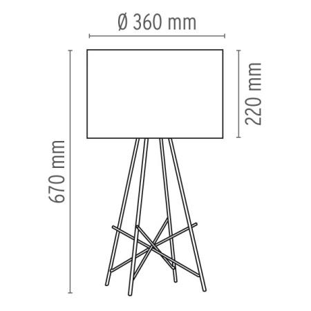 Flos Lampada da tavolo - RAY T 150W E27 METALLO NERO F5911030
