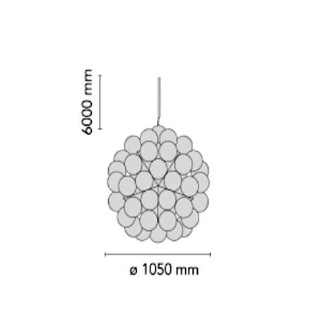 Flos Lampada a sospensione - TARAXACUM 88 SUSPENSION 2 - F7440000