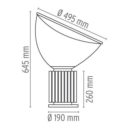 Flos Lampada da tavolo - TACCIA LED EUR NERO F6602030