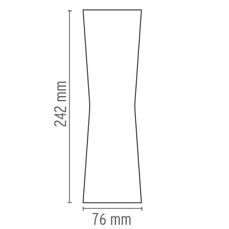 Flos CLESSIDRA CROMO Lampada da parete - F1583057