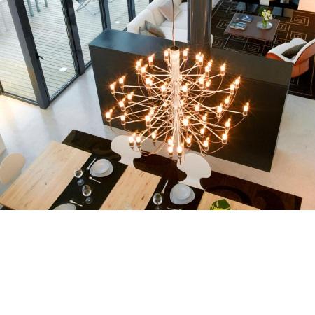 Flos Lampada a sospensione a luce diffusa - 2097/50 SO 50X15W E14 Ottone - A1500059